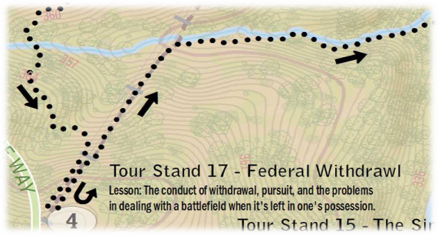 "Example of tree points - ""Wilson's Creek Battlefield Tour"" (excerpt) Jonah Adkins, 2012 (c)"