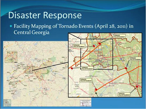 facility mapping tornado events